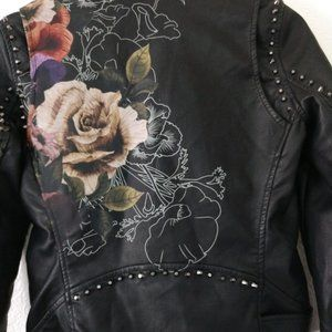 Blank NYC Jackets & Coats - BLANK NYC faux leather floral studded Moto jacket